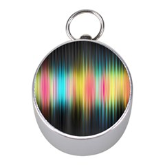 Sound Colors Rainbow Line Vertical Space Mini Silver Compasses by Mariart