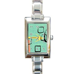 Women s Rectangular Italian Charm Watch