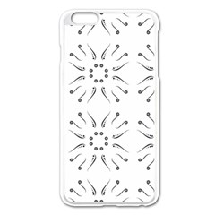 Squid Flower Floral Polka Dots Sunflower Apple Iphone 6 Plus/6s Plus Enamel White Case by Mariart
