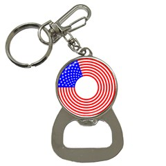 Stars Stripes Circle Red Blue Button Necklaces by Mariart