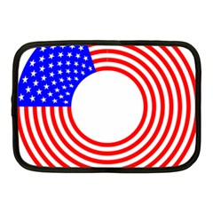 Stars Stripes Circle Red Blue Netbook Case (medium)  by Mariart