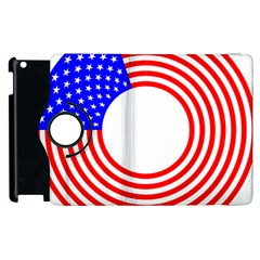 Stars Stripes Circle Red Blue Apple Ipad 3/4 Flip 360 Case by Mariart