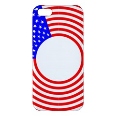 Stars Stripes Circle Red Blue Apple Iphone 5 Premium Hardshell Case by Mariart
