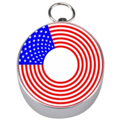 Stars Stripes Circle Red Blue Silver Compasses by Mariart