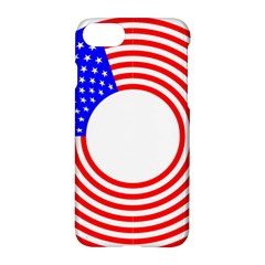 Stars Stripes Circle Red Blue Apple Iphone 7 Hardshell Case by Mariart