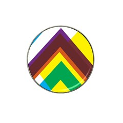 Triangle Chevron Rainbow Web Geeks Hat Clip Ball Marker (10 Pack) by Mariart