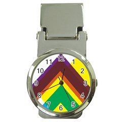 Triangle Chevron Rainbow Web Geeks Money Clip Watches by Mariart