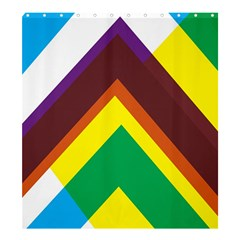 Triangle Chevron Rainbow Web Geeks Shower Curtain 66  X 72  (large)  by Mariart