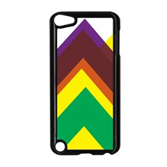 Triangle Chevron Rainbow Web Geeks Apple Ipod Touch 5 Case (black) by Mariart