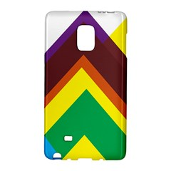 Triangle Chevron Rainbow Web Geeks Galaxy Note Edge by Mariart