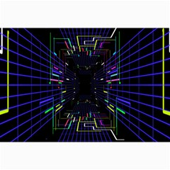 Seamless 3d Animation Digital Futuristic Tunnel Path Color Changing Geometric Electrical Line Zoomin Canvas 12  X 18   by Mariart