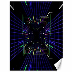 Seamless 3d Animation Digital Futuristic Tunnel Path Color Changing Geometric Electrical Line Zoomin Canvas 36  X 48   by Mariart