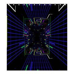 Seamless 3d Animation Digital Futuristic Tunnel Path Color Changing Geometric Electrical Line Zoomin Shower Curtain 66  X 72  (large)  by Mariart