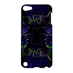 Seamless 3d Animation Digital Futuristic Tunnel Path Color Changing Geometric Electrical Line Zoomin Apple Ipod Touch 5 Hardshell Case by Mariart
