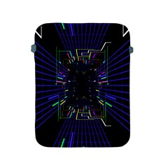 Seamless 3d Animation Digital Futuristic Tunnel Path Color Changing Geometric Electrical Line Zoomin Apple Ipad 2/3/4 Protective Soft Cases by Mariart