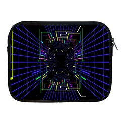 Seamless 3d Animation Digital Futuristic Tunnel Path Color Changing Geometric Electrical Line Zoomin Apple Ipad 2/3/4 Zipper Cases by Mariart