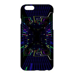Seamless 3d Animation Digital Futuristic Tunnel Path Color Changing Geometric Electrical Line Zoomin Apple Iphone 6 Plus/6s Plus Hardshell Case by Mariart