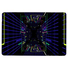 Seamless 3d Animation Digital Futuristic Tunnel Path Color Changing Geometric Electrical Line Zoomin Ipad Air 2 Flip