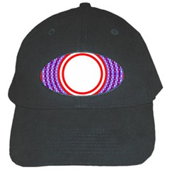 Stars Stripes Circle Red Blue Space Round Black Cap by Mariart