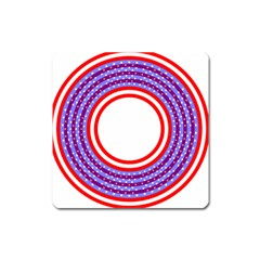 Stars Stripes Circle Red Blue Space Round Square Magnet by Mariart