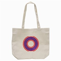 Stars Stripes Circle Red Blue Space Round Tote Bag (cream) by Mariart