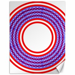 Stars Stripes Circle Red Blue Space Round Canvas 18  X 24   by Mariart