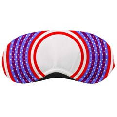 Stars Stripes Circle Red Blue Space Round Sleeping Masks by Mariart