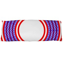 Stars Stripes Circle Red Blue Space Round Body Pillow Case Dakimakura (two Sides) by Mariart