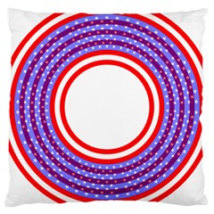Stars Stripes Circle Red Blue Space Round Large Cushion Case (two Sides) by Mariart