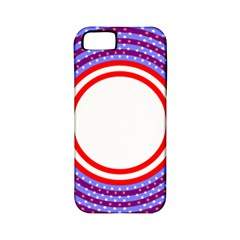 Stars Stripes Circle Red Blue Space Round Apple Iphone 5 Classic Hardshell Case (pc+silicone) by Mariart