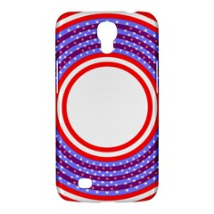 Stars Stripes Circle Red Blue Space Round Samsung Galaxy Mega 6 3  I9200 Hardshell Case