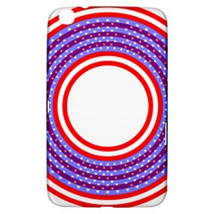 Stars Stripes Circle Red Blue Space Round Samsung Galaxy Tab 3 (8 ) T3100 Hardshell Case  by Mariart