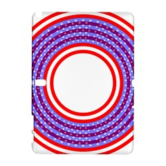 Stars Stripes Circle Red Blue Space Round Galaxy Note 1 by Mariart