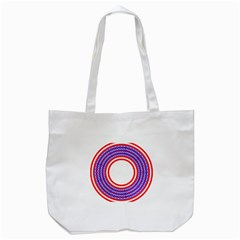 Stars Stripes Circle Red Blue Space Round Tote Bag (white) by Mariart