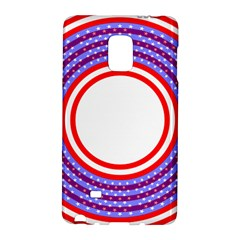 Stars Stripes Circle Red Blue Space Round Galaxy Note Edge by Mariart