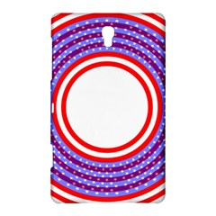 Stars Stripes Circle Red Blue Space Round Samsung Galaxy Tab S (8 4 ) Hardshell Case  by Mariart