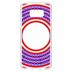 Stars Stripes Circle Red Blue Space Round Samsung Galaxy S8 Plus White Seamless Case by Mariart