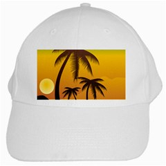 Sunset Summer White Cap by Mariart