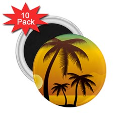 Sunset Summer 2 25  Magnets (10 Pack)  by Mariart