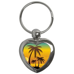 Sunset Summer Key Chains (heart)