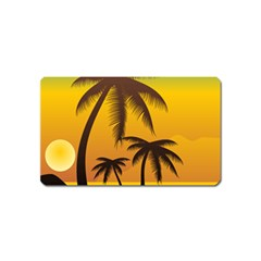 Sunset Summer Magnet (name Card) by Mariart