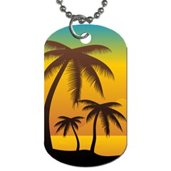 Sunset Summer Dog Tag (one Side) by Mariart