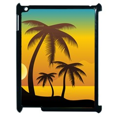Sunset Summer Apple Ipad 2 Case (black) by Mariart