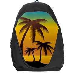 Sunset Summer Backpack Bag by Mariart
