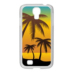 Sunset Summer Samsung Galaxy S4 I9500/ I9505 Case (white) by Mariart