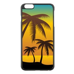 Sunset Summer Apple Iphone 6 Plus/6s Plus Black Enamel Case by Mariart