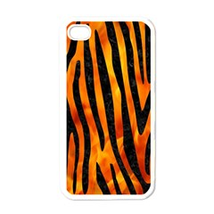 Skin4 Black Marble & Fire Apple Iphone 4 Case (white) by trendistuff