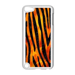 Skin4 Black Marble & Fire Apple Ipod Touch 5 Case (white) by trendistuff
