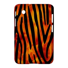 Skin4 Black Marble & Fire Samsung Galaxy Tab 2 (7 ) P3100 Hardshell Case  by trendistuff