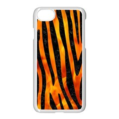 Skin4 Black Marble & Fire Apple Iphone 7 Seamless Case (white) by trendistuff